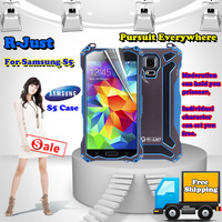 Free shipping,R-Just GunDam Metal Case 4 colors to choice drop shipping good quality,for Samsung S5,Retail and wholesale.