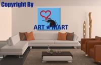 2014 HOT Bansy Love Rat Canvas Prints CA012
