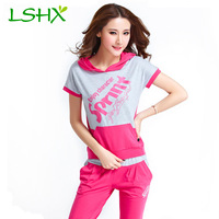 The new summer 2014 Han edition sportswear fashion big yards fleece printing female holiday leisure suit