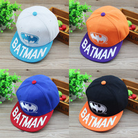 HT-1352 free shipping fashion BATMAN letter style  boys/girls/kids/children's baseball caps / flat /visors  hat