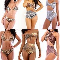 summer Women Dress 2014 Newest Discount Swimsuit Swim Leopard Bikinis Set Animal Print Hot Sale Triangl Swimwear Bikini