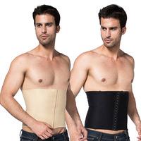 Mens Body Slimming Abdomen Waist Shaper Girdle Cincher Belt Burn Fat Corset Underwear Bodysuit New Freeshipping
