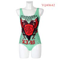 New Summer 2014 Women Swimwear One Piece Swimsuit Sexy Bathing Suit RJD Digital Printing Female One Piece YQ40642