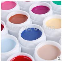 Free Shipping 24 pcs Colors Pure Colour uv gel, Uv gel Set, Builder Gel for nail art