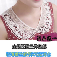 Collar decoration pearl false collar female lace crystal black collar