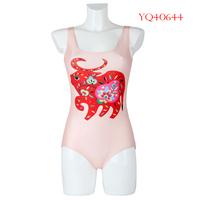 2014 Women Swimwear One Piece Swimsuit High Waist Bathing Suit  Wave Cattle Digital Printing Female Dress Wear YQ40644