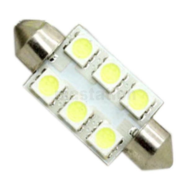 4pcs/lot 41mm 6 SMD 5050 White LED Festoon Dome Light Bulb DC12V Car LED(China (Mainland))