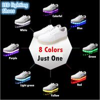 Amazing LED light shoes men women couple models celebrity magazines fluorescent luminous unisex casual sports shoes freeshipping
