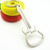Guitar Beer Bottle Opener Keychain Stainless Steel Wine Opener Kitchen Cooking Tools Openers