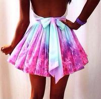Hot sales Free Shipping lovegirl Fashion Irregular galaxy sexy skirt wishful thinking skirt