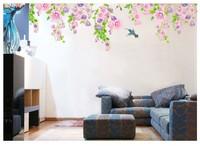 2013 free shipping Happy Petunia Hummingbird onwalls sticker cartoon child real wall stickers wallpaper DLX6229