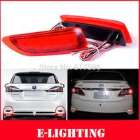 Red Lens Rear Bumper Reflector LED Tail Brake Light for Lexus CT200h Toyota Corolla