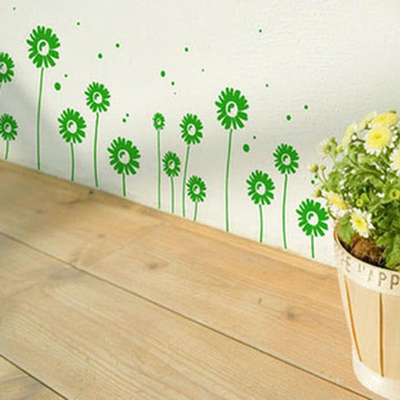 2014 Real Home Decoration Adesivo De Parede Little Daisy - Tijuexian Waistline Stickers Kitchen Cabinet Sliding Door Ofhead Wall(China (Mainland))