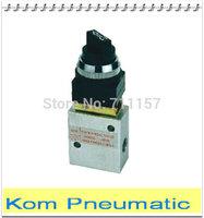 "Free Shipping 3 Port JM Series 1/4"" Rotary Konb Mechanical Valve Hand Valve Manual control , 2/3 Way JM-05 JM322TB"