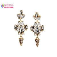2014 jewelry gift fashionable elegant luxury stone rhinestone simulated pearl statement earrings for women bijoux wholesale