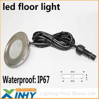 Free Shipping 12V Ultra Thin Stainless steel Led Floor Light Lamp