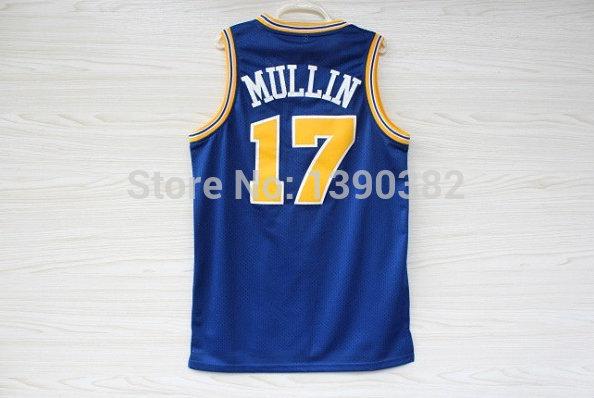 Golden State Chris Mullin 17 Jersey, Blue Mesh Jersey, Cheap Basketball Jerseys S-3XL Free Shipping(China (Mainland))