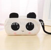 1pcs cute panda soft plush pencil case pen pocket cosmetic despicable me minion makeup zipper bag free shipping