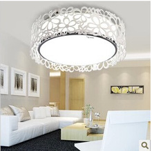 24W Through-carved White LED ceiling light for living room/sitting room/bedroom,Acryl  flower lamp,E27 bulb,1 pcs/lot.(China (Mainland))