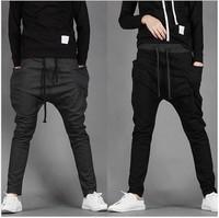 New 2015 spring mens punk harem pants skinny pants hot-selling male big crotch pants