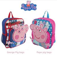 2014 New Peppa Pig Backpack Kid Child School Bags Girls Boys Children Cartoon Bag Mochila Infantil Peppa Pig Bolsas
