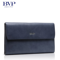 BVP high-end men top genuine leather cowhide branded wrist clutch handbag business casual checkbook wallet S3007
