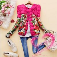 2014 Fashion Women Coats And Jackets Winter Coat Women Women's Slim Printed Cotton Coat Parkas Winter Jacket Women AS1427