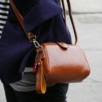 Women's handbag leather vintage 2013 wind brief lomo multi-purpose small messenger bag mini camera bags Girls designer purse