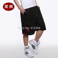 6 basketball pants lion head sports knee-length pants summer loose shorts male