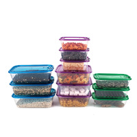 12pcs Food Container Storage Box Set Microwave Lunch Box