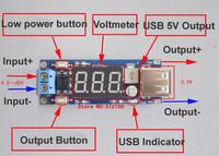 Freeshipping 10PCS DC 4.5-40V To 5V 2A USB Charger DC-DC Step-down Buck Converter Voltmeter Module