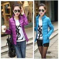 2014 New Women Brand NK Sport Winter Keep Warm Jacket Down Duck Down Fashion Women Casual Slim Winter Outwear WT4405