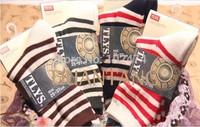 Free shipping 10 Pack  women's cotton  Socks Stripe Pattern Autumn Winter Socks