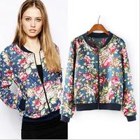Fashion 2014 Women Jackets Women Coats And Jackets Women's Short Design Causal Printed Coat Women Jacket Autumn AS1428