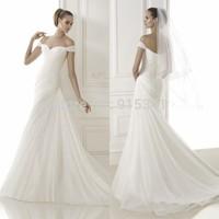 New Fashioned Sheath Sweetheart Corset Pleats Sequined Tulle Romantic Dress Bride 2015 Custom Made