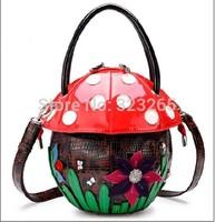 free shipping Mushroom shape handbag, personalized Funny handbags, brand tide bag, star with handbags