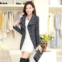 Korean version of the popular new slim collar wool coat woollen overcoat suit