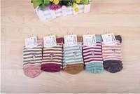 Free shipping 30 Pack  women's cotton  Socks Stripe Pattern Autumn Winter Socks