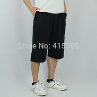 Thin 100% cotton capris male sports pants loose capris breeched wei pants casual pants