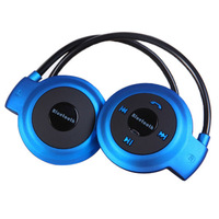 2014 Newest wireless bluetooth headset,503 blue,neckband Stereo sound Sport TF Card FM Sport Earphone,for Moto,for Nokia,for LG