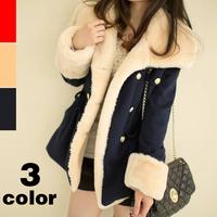2014 new women coat winter warm coat women wool slim double breasted wool coat winter jacket women fur women's coat jackets new
