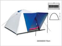 Outdoor camping tents 8 preson more than double layer tent more people bivvy oversized high mountain tent sent mat + tent lights