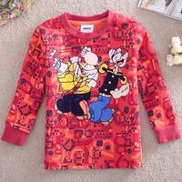 Nova kids brand baby boys children clothing cotton spring long t shirt for baby boys A3106