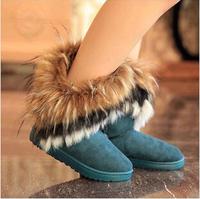 Autumn Winter Women Snow Boots Flat Ankle Boots 2014 Fashion All-match Grace Boots Plush Patchwork Botas Femininas WX166
