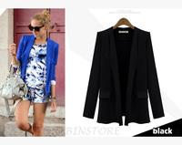 2014 New Lemon/Blue/Black/White 4 Color 4 Sizes OL Ladies Women Fashion Jacket Blazer Suit Outwear