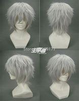 Tokyo Ghoul Kaneki Ken Anime Costume Short Cosplay Wig Kanekalon Hair no lace Fiber All wigs