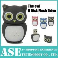 2014 new New Wholesales Cartoon Pink/blue/pink Owls usb flash drive Model usb2.0 memory flash stick pen drive/disk free shipping