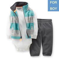 NEW 2014 Carter's Baby Boy 3-pcs Micofleece Vest Zip Suit Infant Fall Winter Clothing Set Newborn-18m , In Store, YW