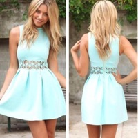 2014 Fashion Summer Sexy Ball Gown Dress  Celeb Casual Mini dress Chic Style Sheath Dress Free Shipping