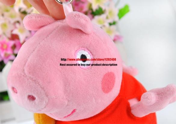 "Hot! 19cm/7.4"" peppa pig toys SOFT BABIES Plush Doll Kids Teddy Good Gift(China (Mainland))"